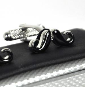 Cufflinks - Moustache Thumbnail 1