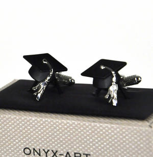 Cufflinks - Graduate Mortar Board Thumbnail 1