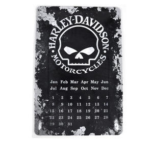 "Harley Davidson Motorcycles Calendar Metal Plaque - 20 x 30cm / 8"" x 12 "" Thumbnail 1"