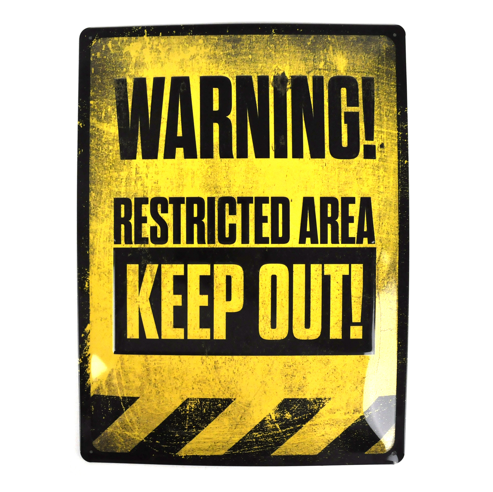 Cooking Gadgets Warning Restricted Area Keep Out Xl Metal Plaque Sign
