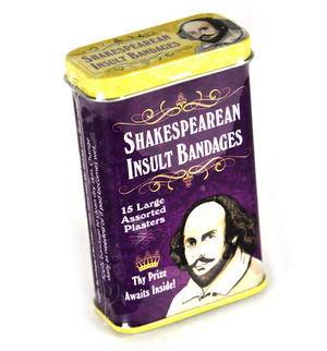 Shakespeare Insult Plasters - Band Aids In A Tin