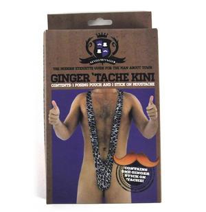 Ginger 'Tache-Kini -  Mankini with Moustache Set Thumbnail 2