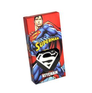 Superman High Polished Chrome Steel Keyring Thumbnail 1
