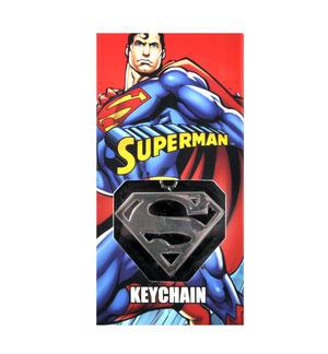 Superman High Polished Chrome Steel Keyring Thumbnail 2