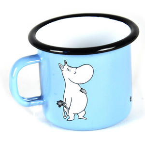 Moomintroll on Light Blue - Junior  25 cl Moomin Muurla Enamel Mug Thumbnail 2