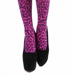 Small Leopard Flo Pink - Pamela Mann Tights Thumbnail 2