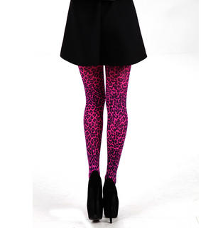 Small Leopard Flo Pink - Pamela Mann Tights Thumbnail 4