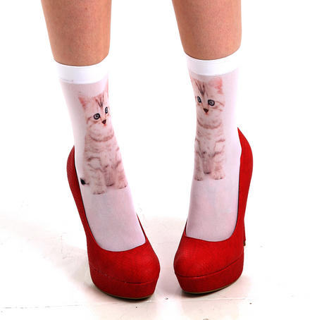 Pussy Cat Ankle Socks by Pamela Mann