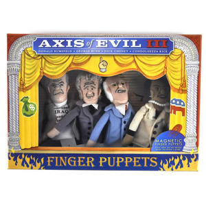 Axis of Evil lll  Finger Puppet Set - Rumsfeld / Bush / Cheney / Condoleezza Thumbnail 1