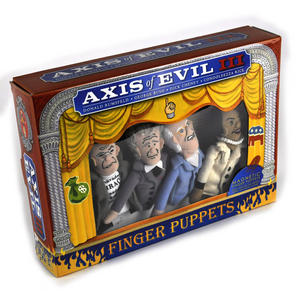 Axis of Evil lll  Finger Puppet Set - Rumsfeld / Bush / Cheney / Condoleezza Thumbnail 2