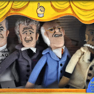 Axis of Evil lll  Finger Puppet Set - Rumsfeld / Bush / Cheney / Condoleezza Thumbnail 3