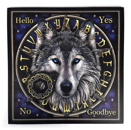 "Wolf Spirit Board - 36cm / 14"" Ouija Board and Pointer"