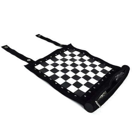 Roll Up Chess Set - Classic Suede Travel Companion.