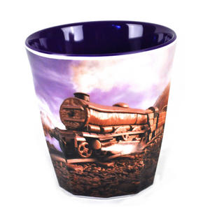"Chocolate Train Land - Foodscape by Carl Warner - Fluted Melamine Beaker - 9cm /4"" Thumbnail 1"