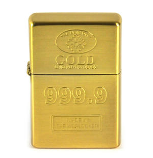 Gold Ingot 999.9 Windproof Lighter Thumbnail 1