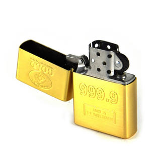 Gold Ingot 999.9 Windproof Lighter Thumbnail 3