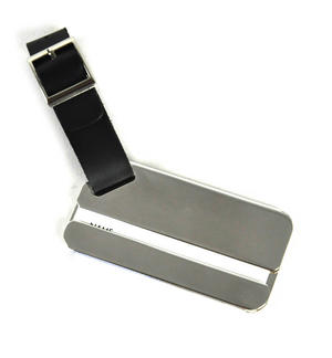 Silver Plate Luggage Tag Thumbnail 1