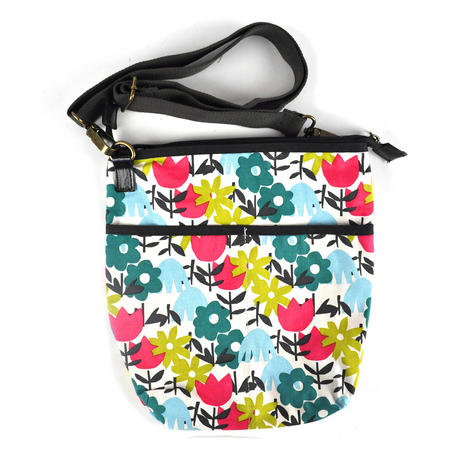 Daytime Flower Garden Messenger  Bag