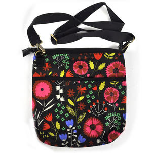 Night-time Flower Garden Messenger Bag Thumbnail 1
