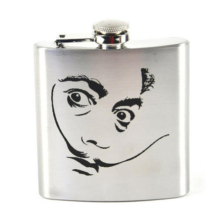 Salvador Dali Moustache Hip Flask