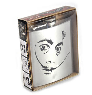 Salvador Dali Moustache Hip Flask Thumbnail 2