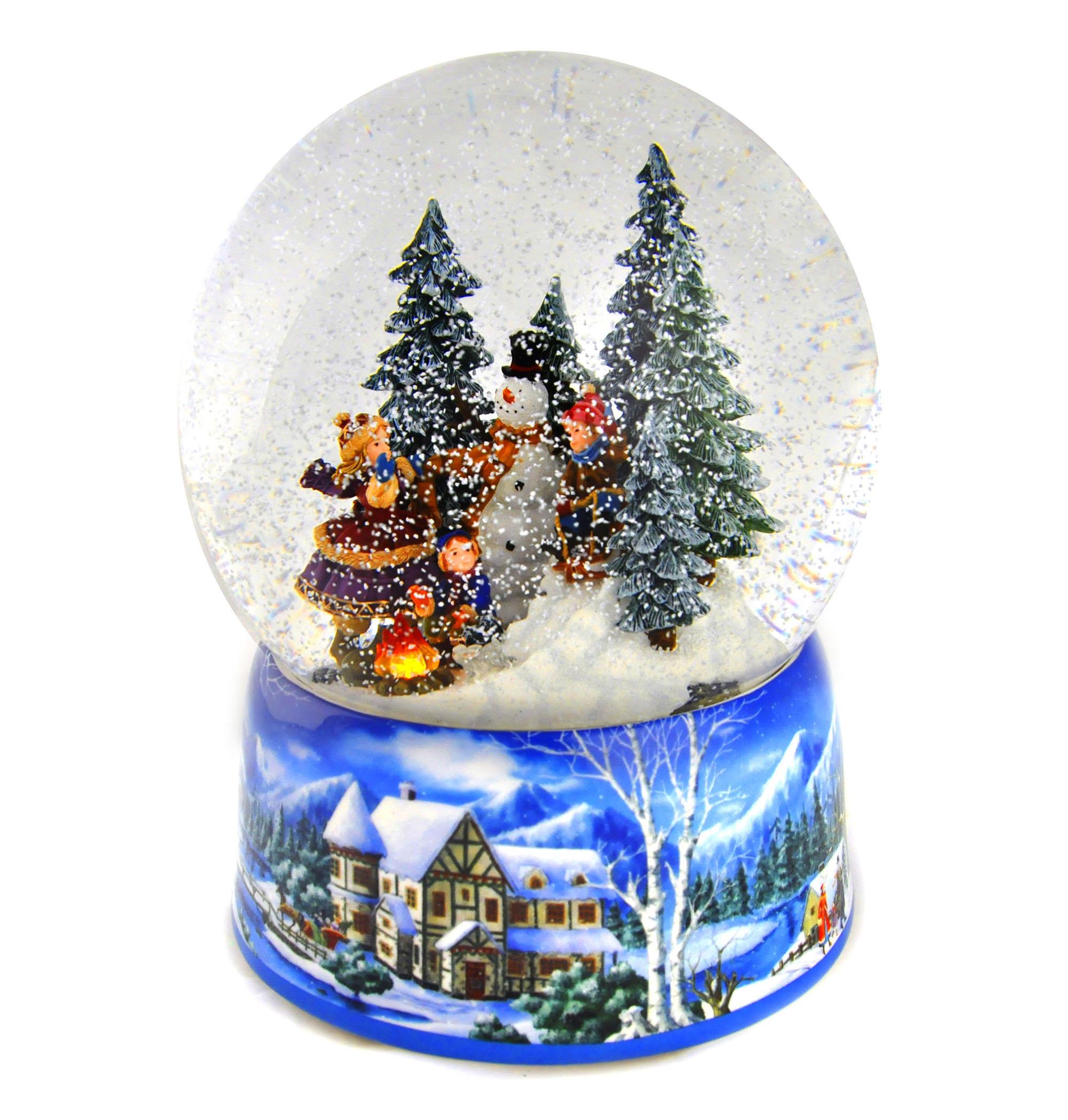 Let it Snow' Light up musical Christmas Snowstorm Globe   Pink Cat Shop