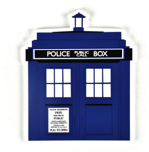 Doctor Who Tardis - Industrial PVC Coaster Thumbnail 1