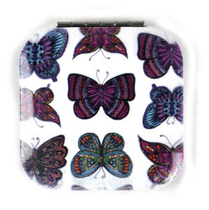 Nine Butterflies - Square Compact Handbag Mirror