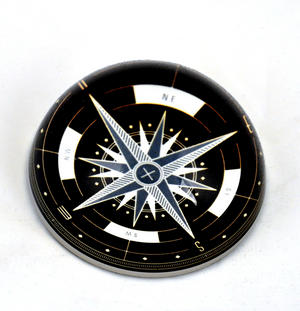 Compass Paper Weight Dome Thumbnail 2