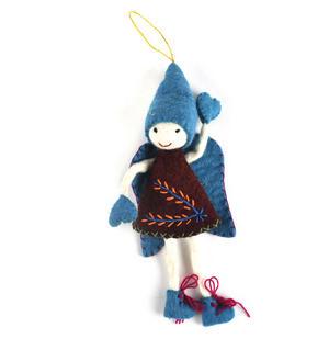 "Fair Trade Fairy / Angel -  22cm / 9"" Hanging Decoration - Random Colours Thumbnail 2"