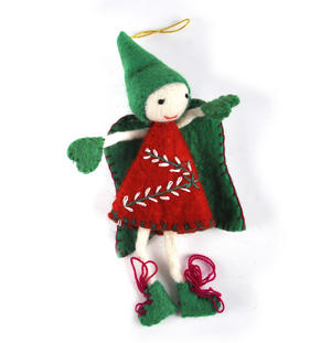 "Fair Trade Fairy / Angel -  22cm / 9"" Hanging Decoration - Random Colours Thumbnail 1"