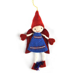 "Fair Trade Fairy / Angel -  22cm / 9"" Hanging Decoration - Random Colours Thumbnail 3"
