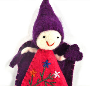 "Fair Trade Fairy / Angel -  22cm / 9"" Hanging Decoration - Random Colours Thumbnail 4"