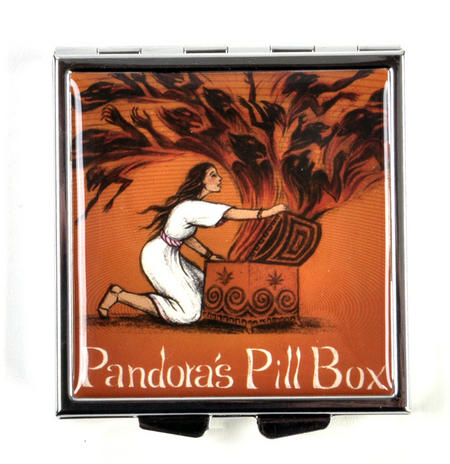 Pandora's Pill Box -  A Stash Box with Hope