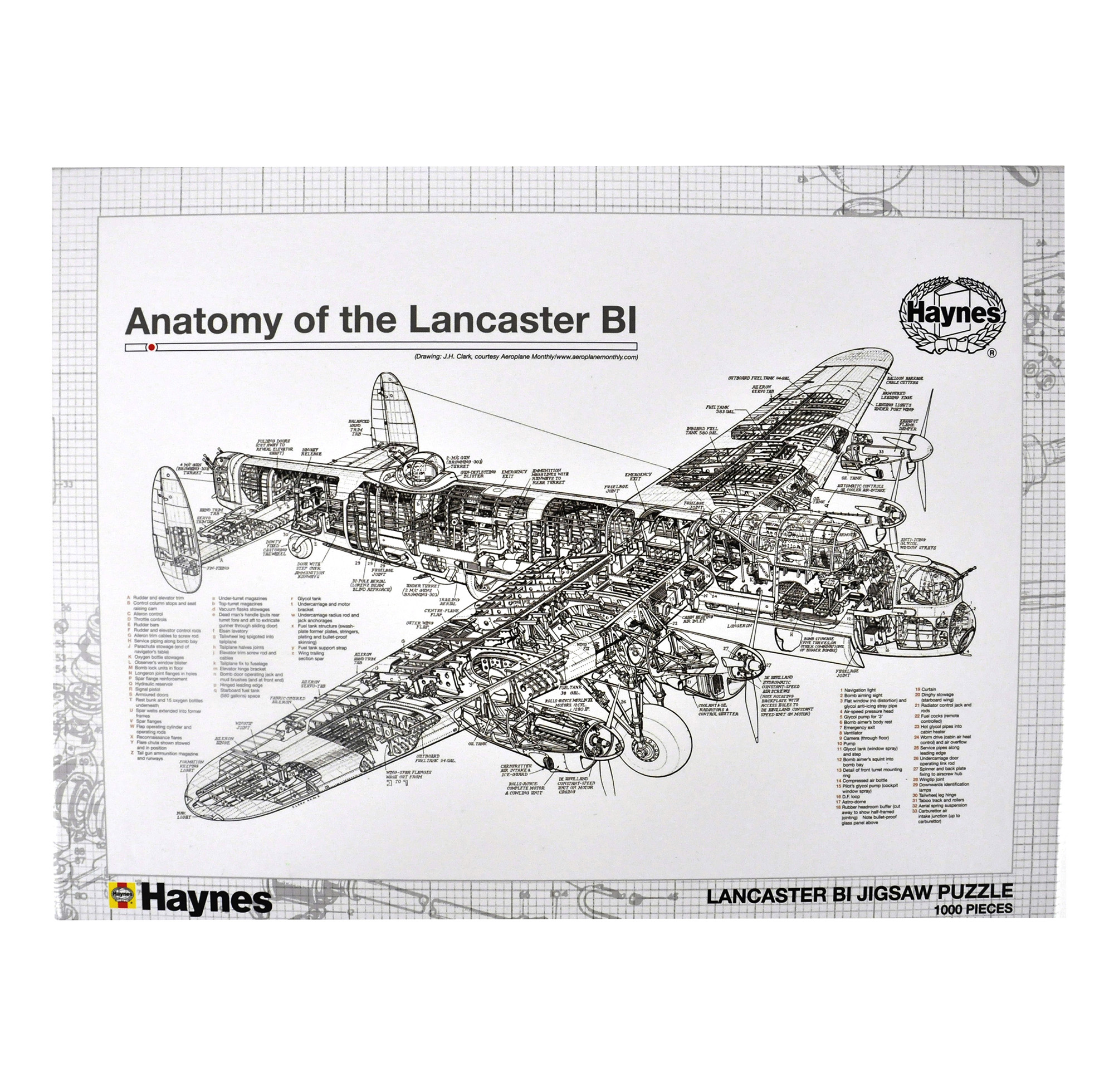 Anatomy of the Lancaster 1000Pc Jigsaw Puzzle | Pink Cat Shop