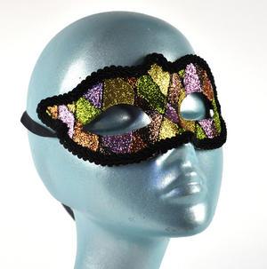 Harlequin Eye Mask - Random Designs Thumbnail 2