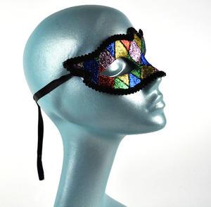 Harlequin Eye Mask - Random Designs Thumbnail 4
