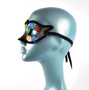 Harlequin Eye Mask - Random Designs Thumbnail 5