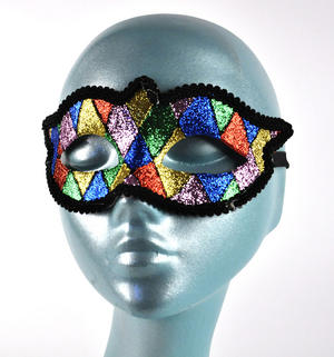 Harlequin Eye Mask - Random Designs Thumbnail 6