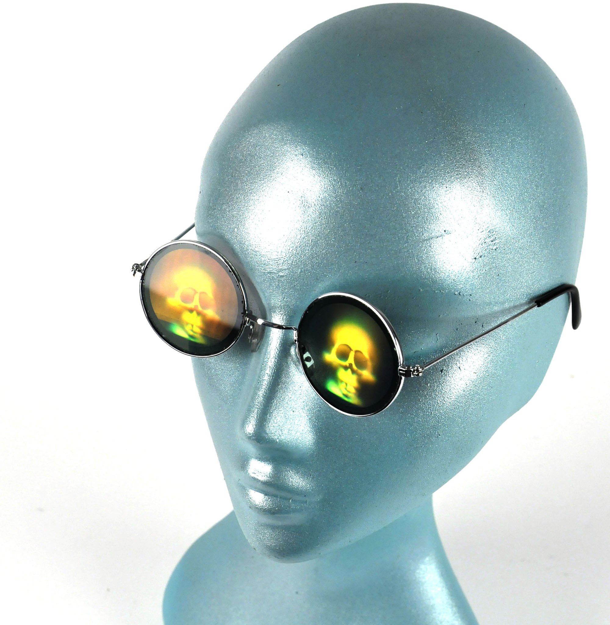 Hologram Skull Eyes Glasses | Pink Cat Shop