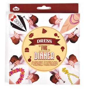Dress For Dinner Napkins - Unisex Thumbnail 3