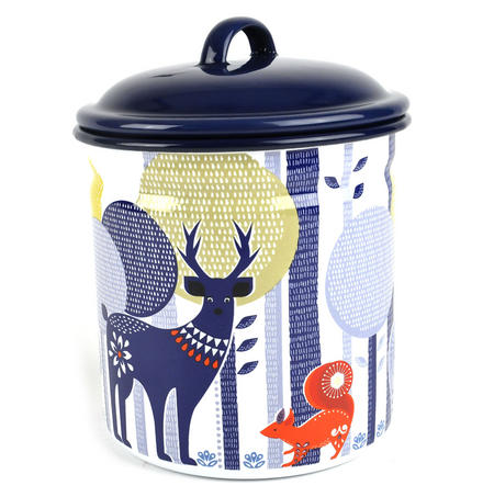 Folklore 1.5 Ltr Enamel Storage Pot