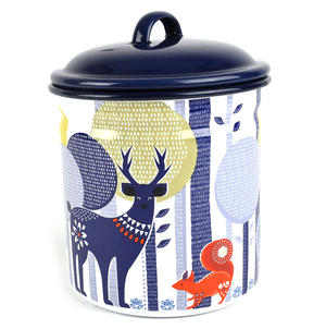 Folklore 1.5 Ltr Enamel Storage Pot Thumbnail 1