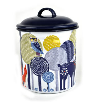 Folklore 1.5 Ltr Enamel Storage Pot Thumbnail 2