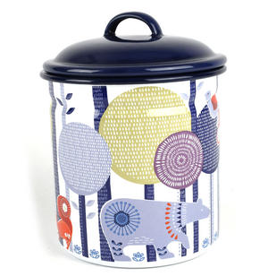 Folklore 1.5 Ltr Enamel Storage Pot Thumbnail 5
