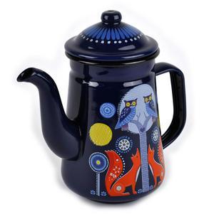Night Time Folklore Coffee Enamel Pot Thumbnail 4