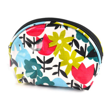 Daytime Flower Garden - Half Moon Make Up Bag