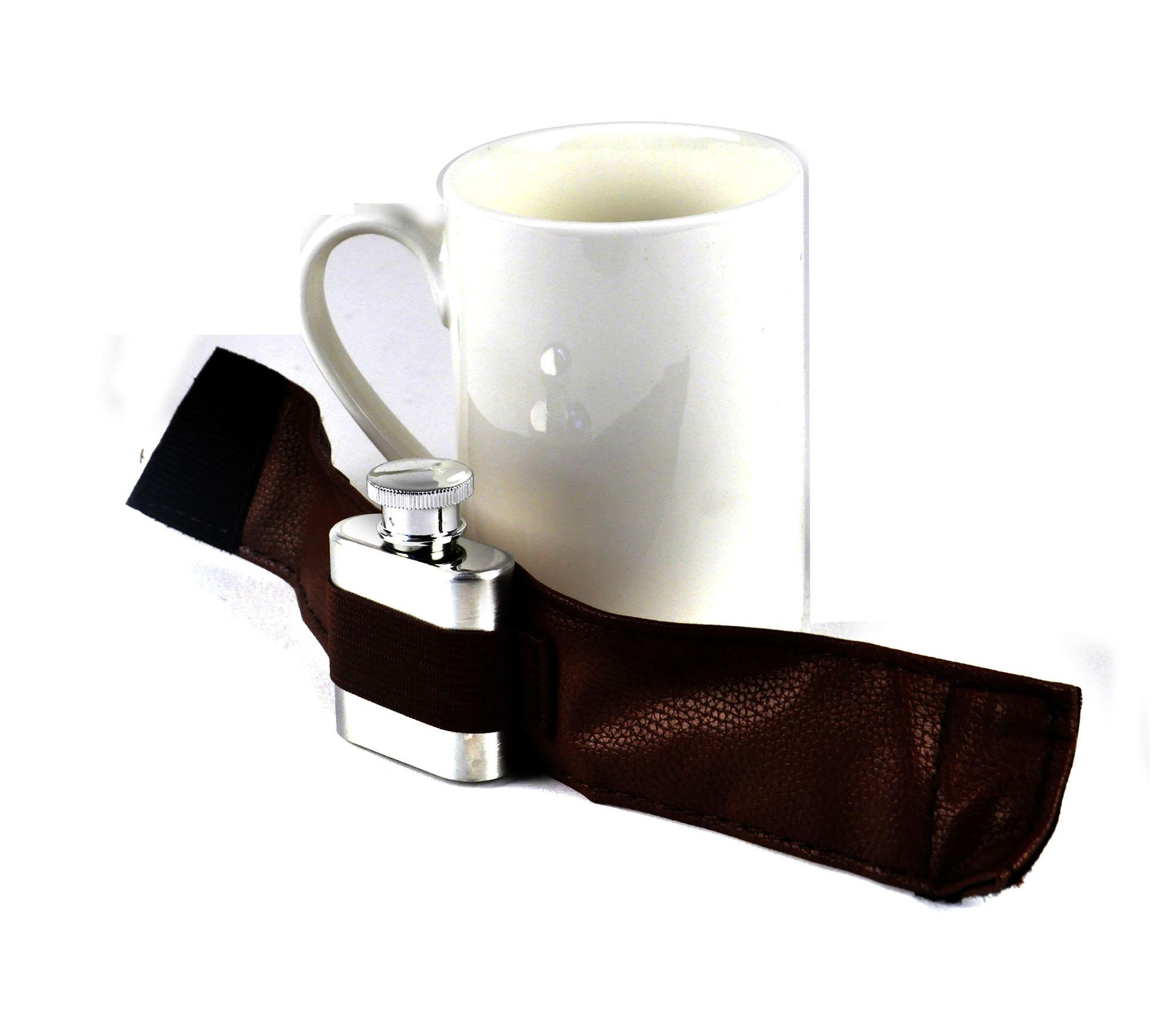 extra dosen kaffee tasse becher mit anschnallen flachmann ebay. Black Bedroom Furniture Sets. Home Design Ideas