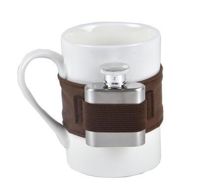 Extra Shot Coffee Mug - Mug with Strap-on Hip Flask