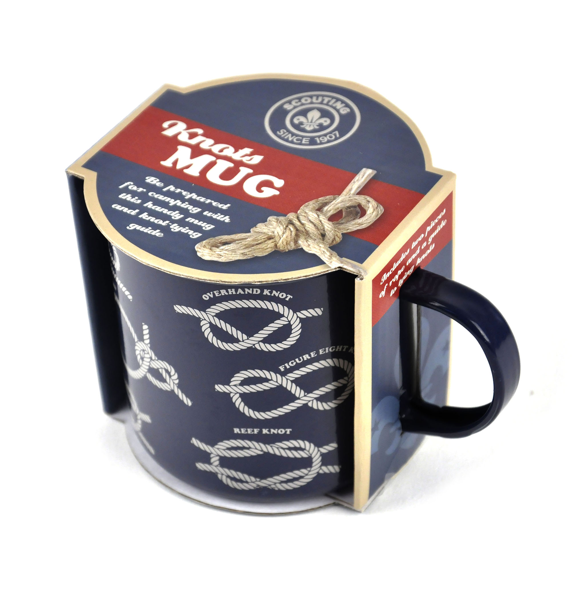 Scout Knots Mug With Rope And Scouting Knots Guide